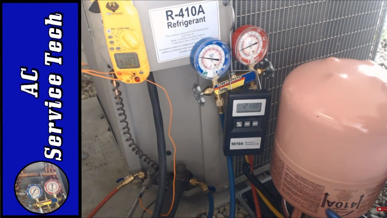 R 410a Charging Weighing In Refrigerant Charge Through