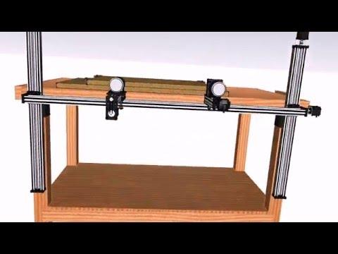 Homemade DIY CNC Project 장부따기 cnc(오픈빌드)
