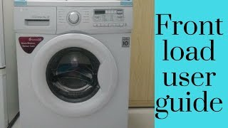 How to use front load washing machine Demo & review of lg front load washing machine