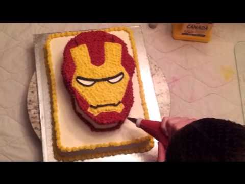 Specialty Cake Ironman Mask YouTube