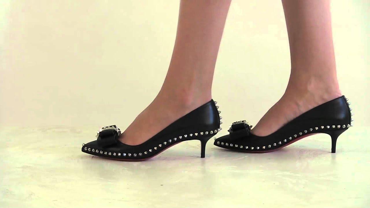 2e0cf49b2f88 Footcandy Shoes Christian Louboutin Lucifer Bow - YouTube