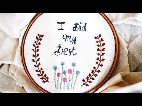Embroidery Letters: Satin Stitch & French Knot | Jom Belajar Menyulam(Bhgn 5)