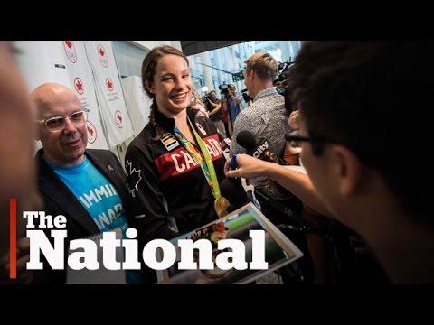 Olympic athletes return to Canada