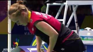 Highlight - 2014 Euro. C'ships WS 1/2 Final - Carolina Marin vs Karin Schnaase