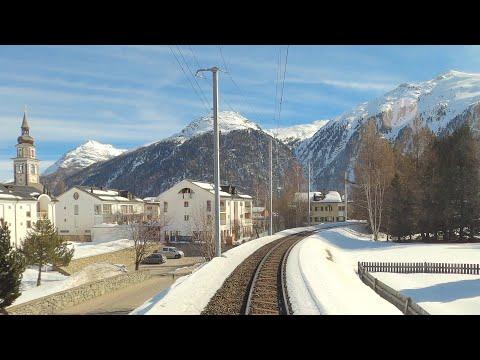 ★ 4K Chur - Albulabahn - St. Moritz cab ride, Switzerland [02.2020]