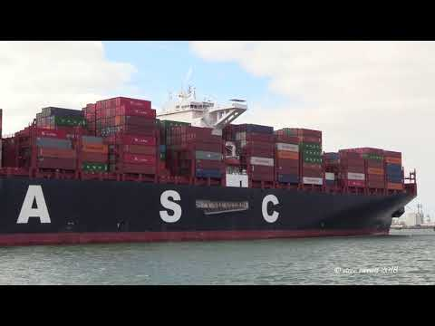UASC Linah Container Ship arrival Southampton from Antwerp 22/03/18