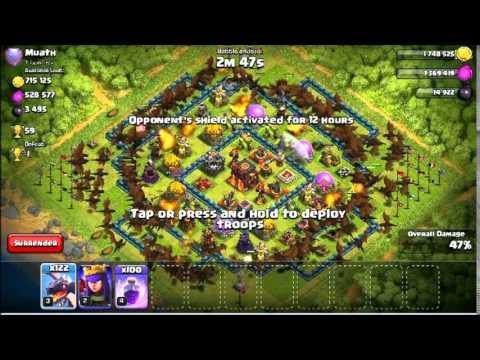 【clash of clans】300 Dragon troop 100 Rage Raid 【Simulate� 8
