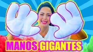 QUÉ PUEDO HACER con MANOS GIGANTES?! RETO MAXI MANOS - GIANT HANDS Challenge - SandraCiresArt
