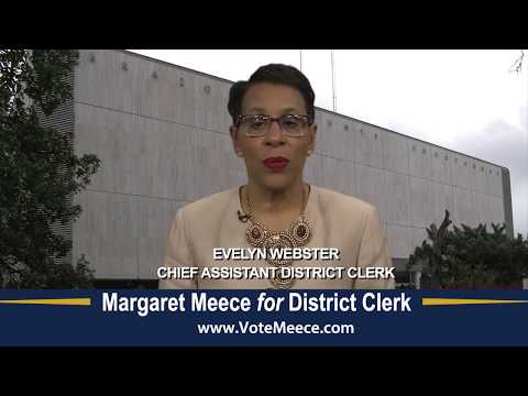 Evelyn Webster and Margaret Meece Discusses the District Clerk's Office