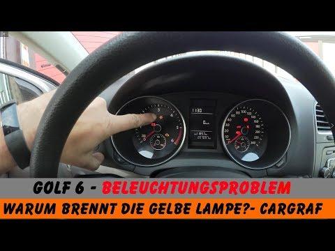 Golf 6 Beleuchtung Spinnt Gelbe Lampe Was Ist Da Los Youtube