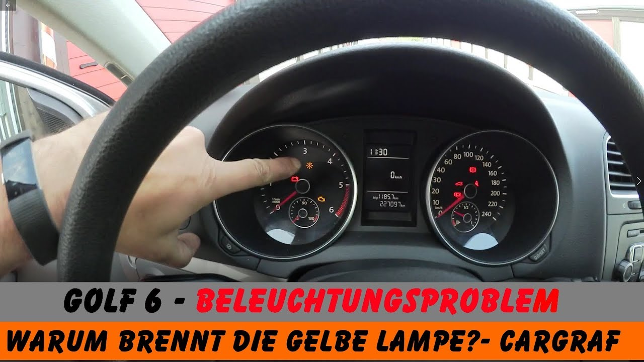 golf 6 beleuchtung spinnt gelbe lampe was ist da los. Black Bedroom Furniture Sets. Home Design Ideas