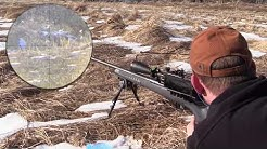 Savage 22-250 300 Yard Accuracy - Vapor Trails and Scope Cam!