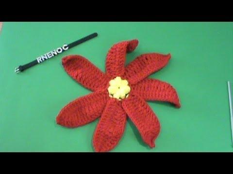 2 de 2 como tejer flor nochebuena petalos ganchillo - Como hacer flores de ganchillo ...