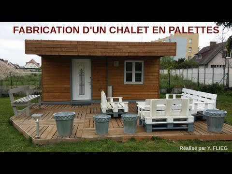 chalet en palettes europe youtube. Black Bedroom Furniture Sets. Home Design Ideas