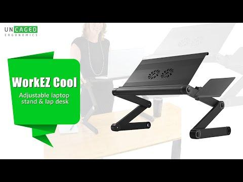 workez-cool-ergonomic-aluminum-laptop-stand-&-lap-desk-with-fans-usb-ports-mouse-pad