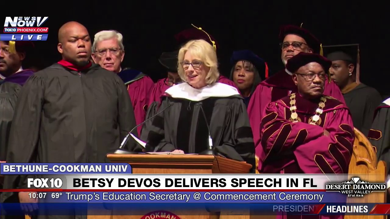Boos drown out Betsy DeVos' speech at Bethune-Cookman graduation