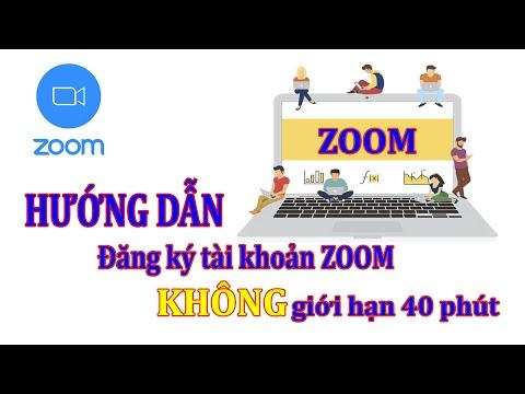 Hướng dẫn đăng ký tài khoản Zoom không giới hạn thời gian 40 phút - THPT Ngọc Lặc Official