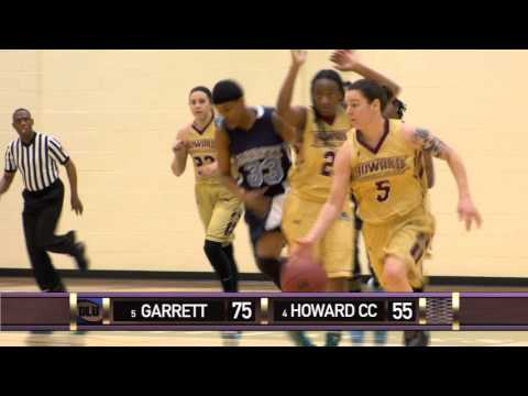 Howard CC vs Garrett College (2016 Region XX/District K Women's Basketball Tournament)