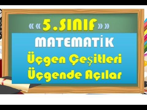 5.Sınıf Matematik Üçgende Açı ve Üçgen Çeşitleri-Yardımcı Öğretmen