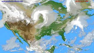 Cloud forecast USA & Canada // modelrun: 12h UTC 2019-10-19