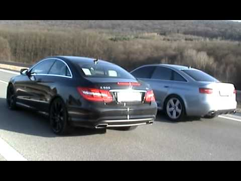 Mercedes E500 Coupe 2009 Vs Audi Rs6 2009 Youtube