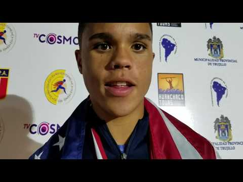 Turner Washington interview after silver medal in Pan Am Junior discus