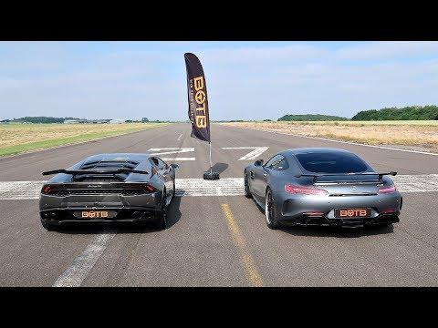 DRAG RACE! LAMBORGHINI HURACAN VS MERCEDES-AMG GT R!