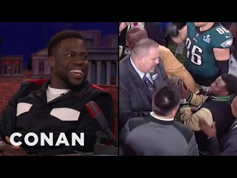 Kevin Hart鈥檚 Drunken Mission To Hold The Super Bowl Trophy  - CONAN on TBS