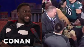 Kevin Hart's Drunken Mission To Hold The Super Bowl Trophy  - CONAN on TBS
