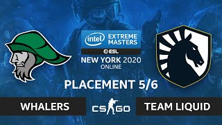 CS:GO - Whalers vs. Team Liquid [Inferno] Map 1 - IEM New York 2020 - Placement 5/6 - NA