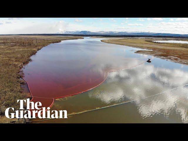 זיהום חמור של נהר בסיביר על ידי דיזל שדלף