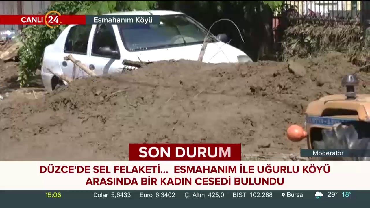 24 TV sel felaketinin yaşandığı Düzce'de