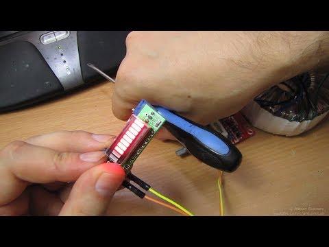 Набор для сборки, Линейный индикатор заряда батареи