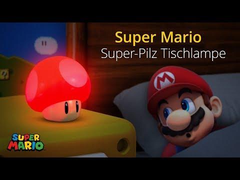 beliebte Marke Schnäppchen 2017 preisreduziert Super Mario - Super-Pilz Tischlampe mit Sound
