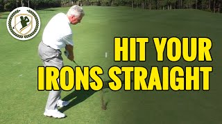 HOW TO HIT A GOLF BALL STRAIGHT WITH AN IRON - 3 MAIN FACTORS!