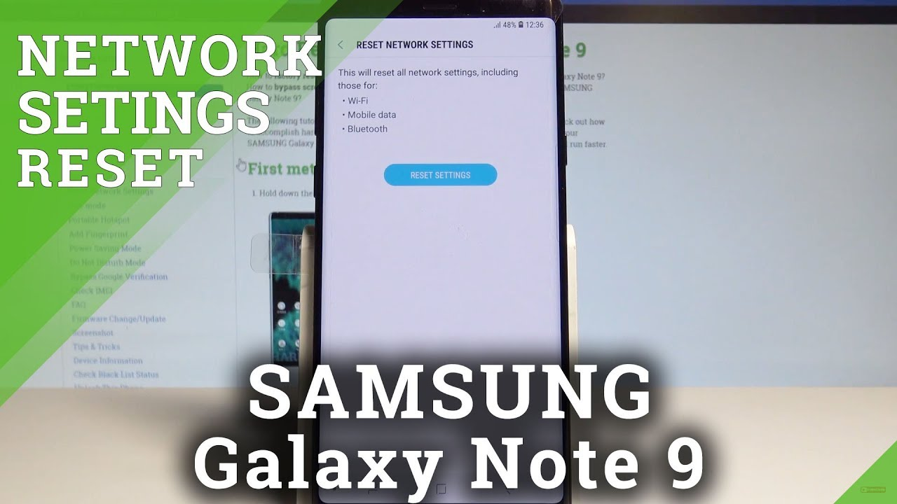 How to Reset Network Settings on SAMSUNG Galaxy Note 9 - Restore Network  Defaults