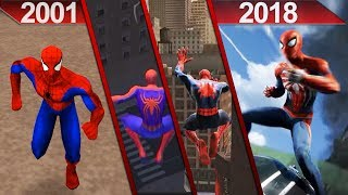 History of Spider-Man Games Graphics (2001 - 2018) | PC* and PS4