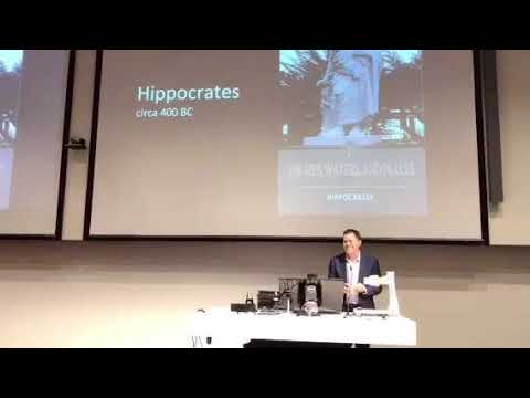 Tony Capon talking at #Planetaryhealth launch
