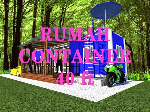 DESIGN SKETCHUP RUMAH KONTAINER 40 FT (CONTAINER HOME)