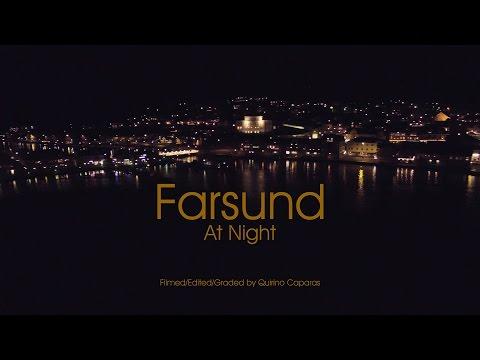 Farsund At Night - Low Light - Norway 4K