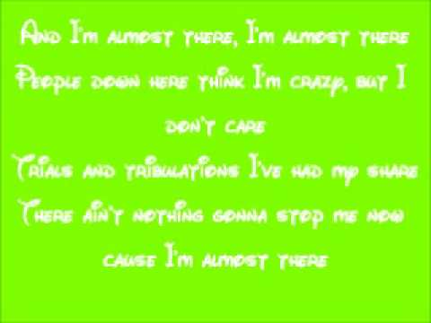 Almost there The princess and the frog lyrics - YouTube