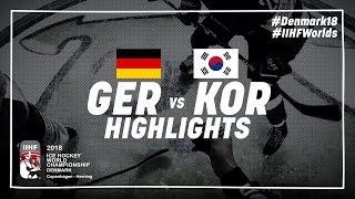 Game Highlights: Germany vs Korea May 9 2018 | #IIHFWorlds 2018
