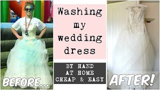 How to wash a wedding dress at home