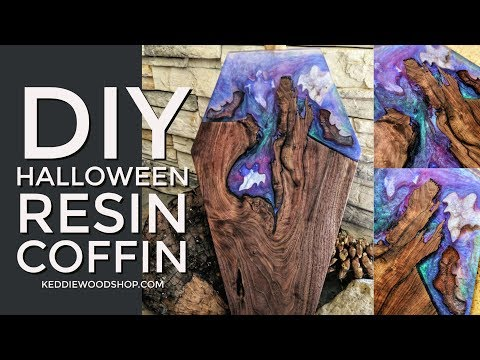 DIY Halloween Resin Coffin