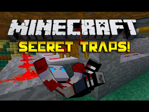 How To Build Traps IN MINECRAFT!! Booby Trapping A Castle!!!