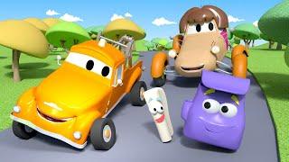 Малярная Мастерская Тома Кэйти исследователь Автомобильный Город детский мультфильм