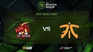 fdn vs fnatic boston major sea qualifiers