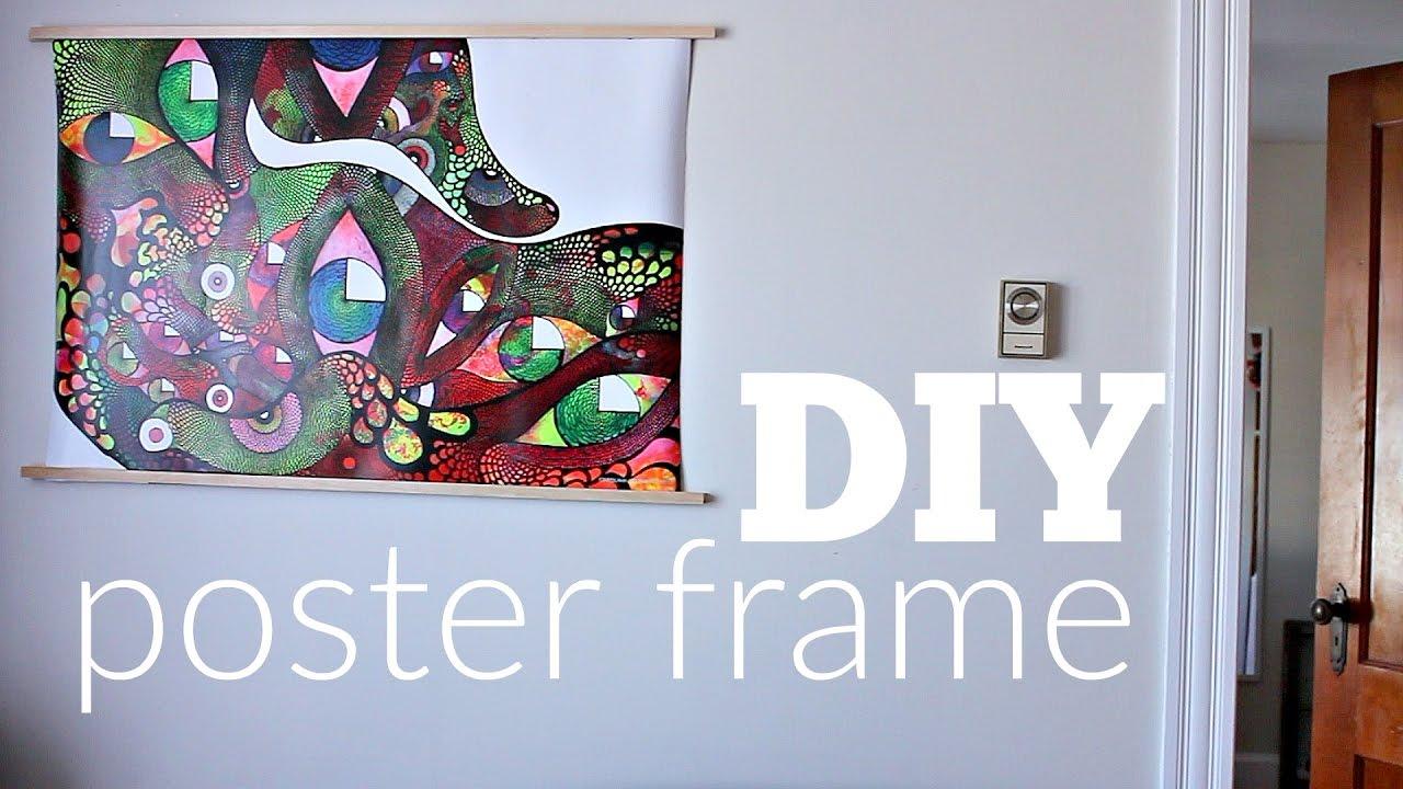 Diy poster frame ideas