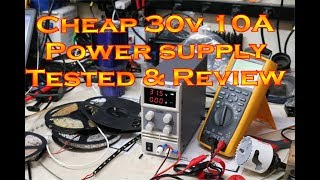 Chinese 30V 10A power supply Testing and Review