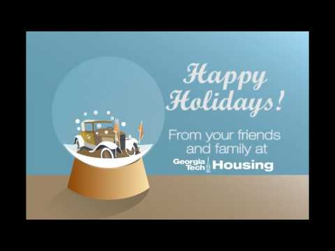 Seasons Greetings from the Department of Housing at Georgia Tech!